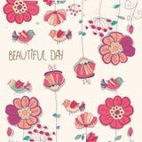 Mooie kleurrijke bloemenachtergrond Stock Afbeelding
