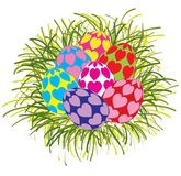 Mooie kleurrijke geïsoleerde paaseieren Royalty-vrije Stock Afbeelding