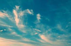 Mooie kleurrijke hemel royalty-vrije stock afbeelding