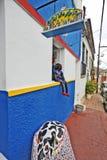 Mooie kleurrijke huizen in Olinda. Stock Foto's