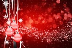 Mooie kleurrijke Kerstmisachtergrond Stock Afbeelding