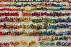 Mooie kleurrijke reeks oorringen Royalty-vrije Stock Afbeelding
