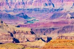 Mooie Kleurrijke Rotsvormingen in Grand Canyon Royalty-vrije Stock Foto's