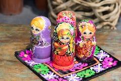 Mooie Kleurrijke Russische het Nestelen Doll Stock Afbeelding