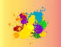Mooie kleurrijke verfplons stock foto