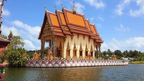 Mooie koh van de de vrijheidslevensstijl van de tempelgodsdienst samui Thailand Stock Afbeelding