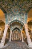 Mooie kolommen in Vakil-Moskee, Shiraz stock fotografie
