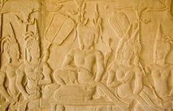 Mooie Koningin die, Angkor Wat wordt gewaaid stock fotografie