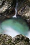 Mooie kreken van water hurst van Sunik, Slovenië royalty-vrije stock fotografie