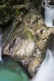 Mooie kreken van water hurst van Sunik, Slovenië royalty-vrije stock afbeelding
