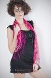 Mooie krullende brunette Royalty-vrije Stock Fotografie