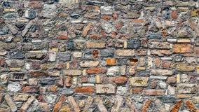 Mooie kunsten van oude kleurrijke bakstenen muur Royalty-vrije Stock Fotografie
