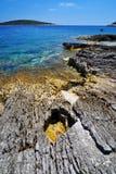 Mooie kust Kroatië Stock Foto