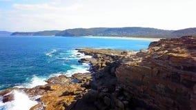 Mooie kust in nationaal het parkstrand van Bouddi dichtbij Sydney royalty-vrije stock afbeeldingen