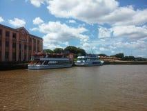 Mooie kust in Porto Alegre Stock Foto