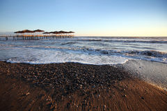 Mooie kustachtergrond Royalty-vrije Stock Foto's