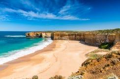 Mooie kustlijn op de Grote Oceaanweg, Victoria - Australi stock foto