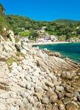 Mooie kustlijnen in het eiland van Elba. royalty-vrije stock afbeelding