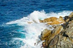 Mooie kustlijnen in het eiland van Elba. royalty-vrije stock fotografie