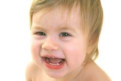 Mooie lachende baby Stock Foto's