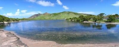 Mooie lagune op Heilige Kitts royalty-vrije stock fotografie