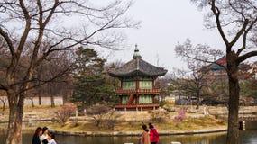 Mooie Landschapsbeelden bij Gyeongbok-Paleis Seoel, Zuid-Korea stock fotografie