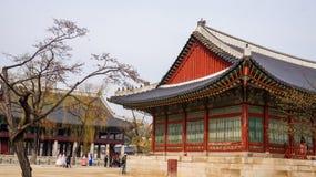 Mooie Landschapsbeelden bij Gyeongbok-Paleis Seoel, Zuid-Korea stock afbeeldingen
