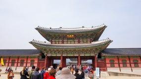 Mooie Landschapsbeelden bij Gyeongbok-Paleis Seoel, Zuid-Korea stock afbeelding