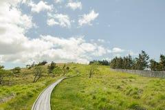 Mooie landschapsmening en Houten treden van Utsukushigahara Stock Afbeelding