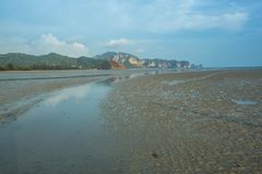 Mooie landschapsmening van Railay-Strandgebied, Krabi Thailand royalty-vrije stock afbeeldingen