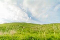 Mooie landschapsmening van Utsukushigahara-park met blauwe sk Stock Afbeeldingen