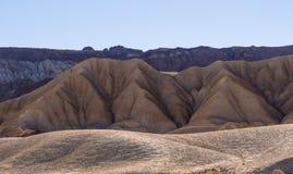 Mooie landschapsroute door het Nationale Park van de Doodsvallei in Californië Stock Afbeeldingen