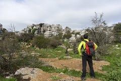 Mooie landschapsroute Torcal Antequera in de provincie van Malaga stock foto's