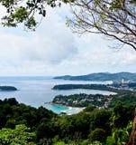 Mooie lanscape van drie baaien, Phuket, Thailand 2 Royalty-vrije Stock Afbeelding