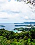 Mooie lanscape van drie baaien, Phuket, Thailand 4 Royalty-vrije Stock Foto's