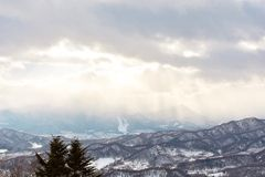Mooie layes van bergen stock fotografie