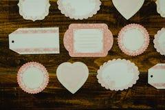 Mooie lege giftkaarten met verschillende vormen Royalty-vrije Stock Afbeeldingen