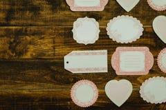Mooie lege giftkaarten met verschillende vormen Stock Fotografie