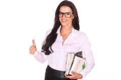 Mooie leraar With Books Stock Afbeeldingen