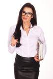 Mooie leraar With Books Royalty-vrije Stock Afbeelding