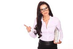 Mooie leraar With Books Stock Afbeelding