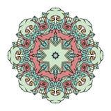 Mooie leuke uitstekende cirkelmandala Royalty-vrije Illustratie