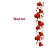 Mooie liefdeachtergrond met witte streep, installatiepatroon en harten stock illustratie
