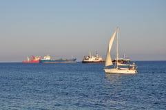 Mooie Limassol Molos in Cyprus Stock Afbeeldingen