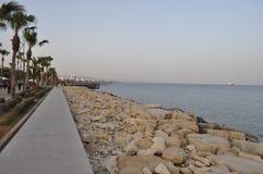 Mooie Limassol Molos in Cyprus Royalty-vrije Stock Foto