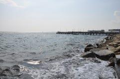 Mooie Limassol Molos in Cyprus Stock Foto's