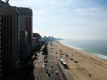 Mooie luchthommelmening van het strand van Leblon en Ipanema-, Rio de Janeiro Royalty-vrije Stock Afbeelding