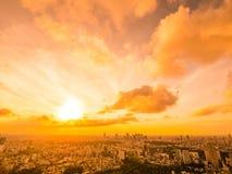 Mooie Luchtmening van architectuur en de bouw rond Tokyo Stock Foto's