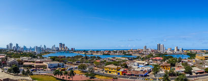 Mooie luchtmening van Cartagena, Colombia Stock Afbeelding