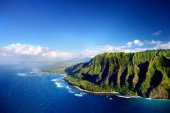 Mooie luchtmening van de kust van Na Pali Royalty-vrije Stock Afbeelding